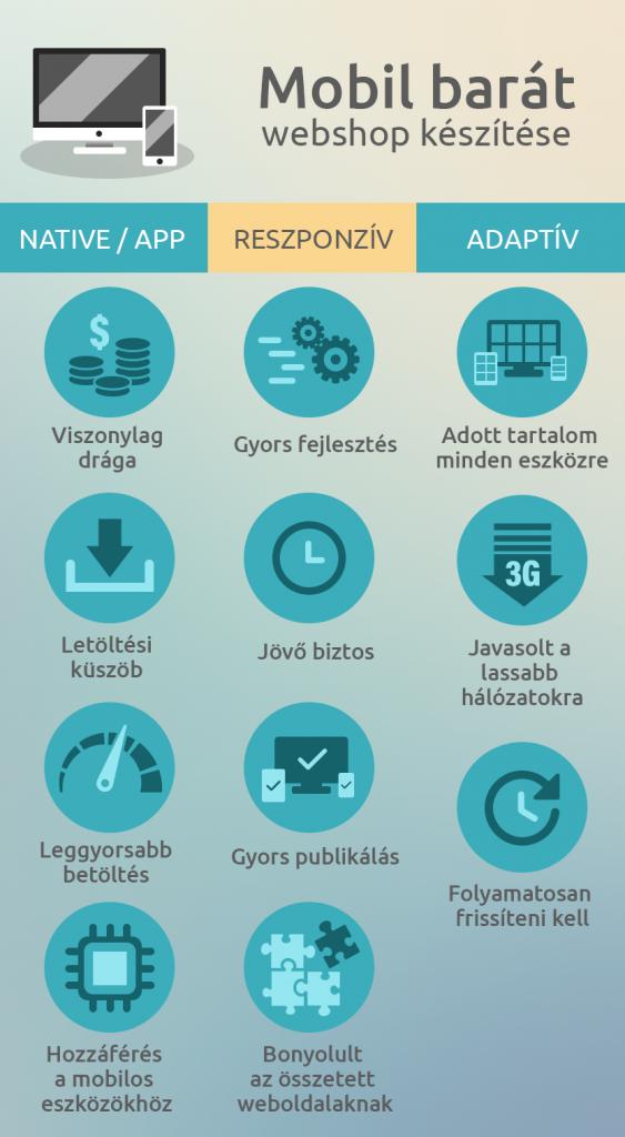 webshop készítés infographic