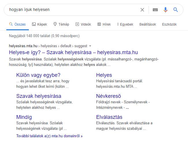 Google első helyre kerülés - rich snippet