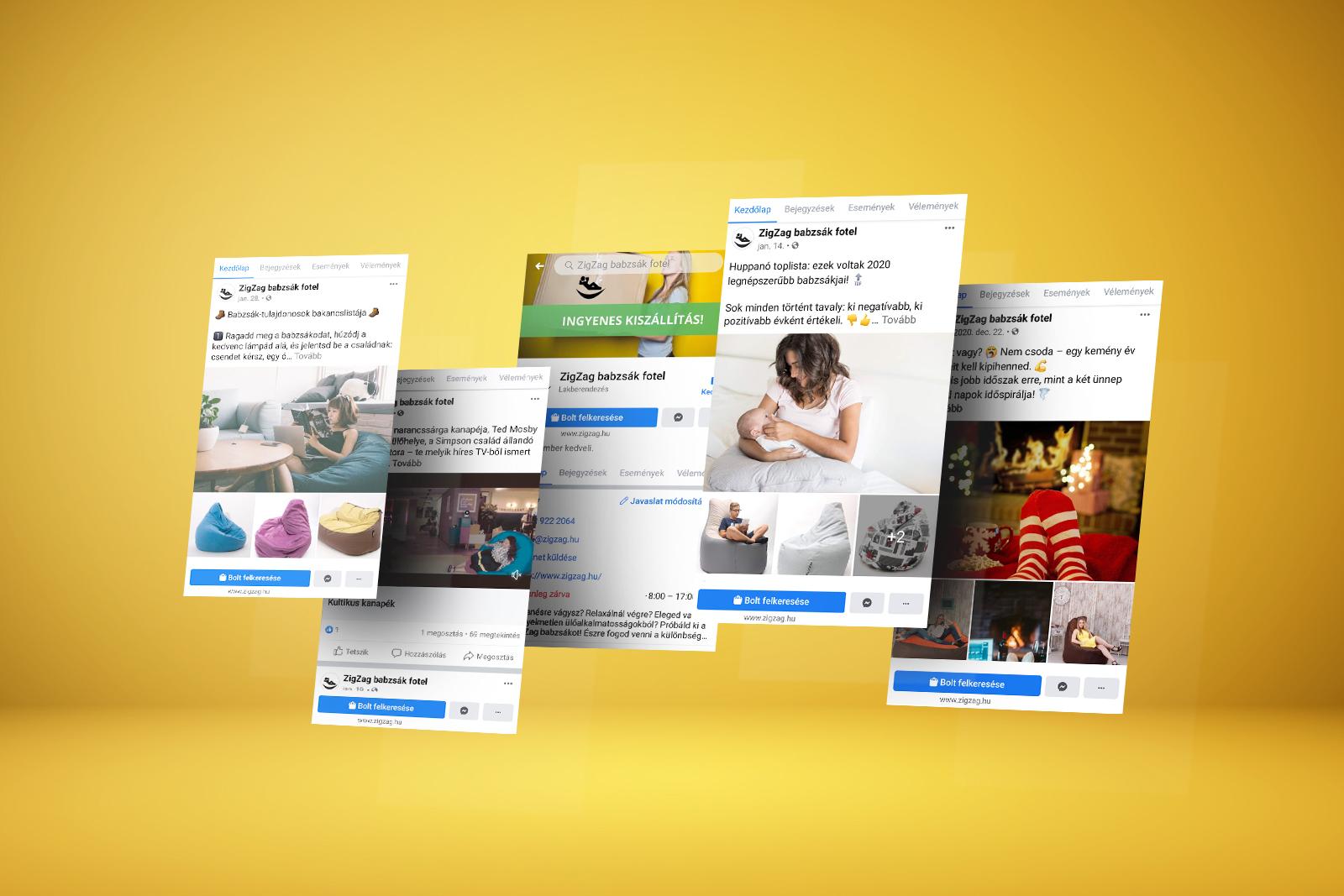 ZigZag Facebook és Instagram oldal menedzselése