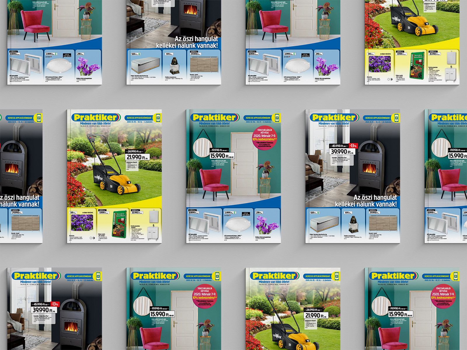 Sales promotion brochures for Praktiker
