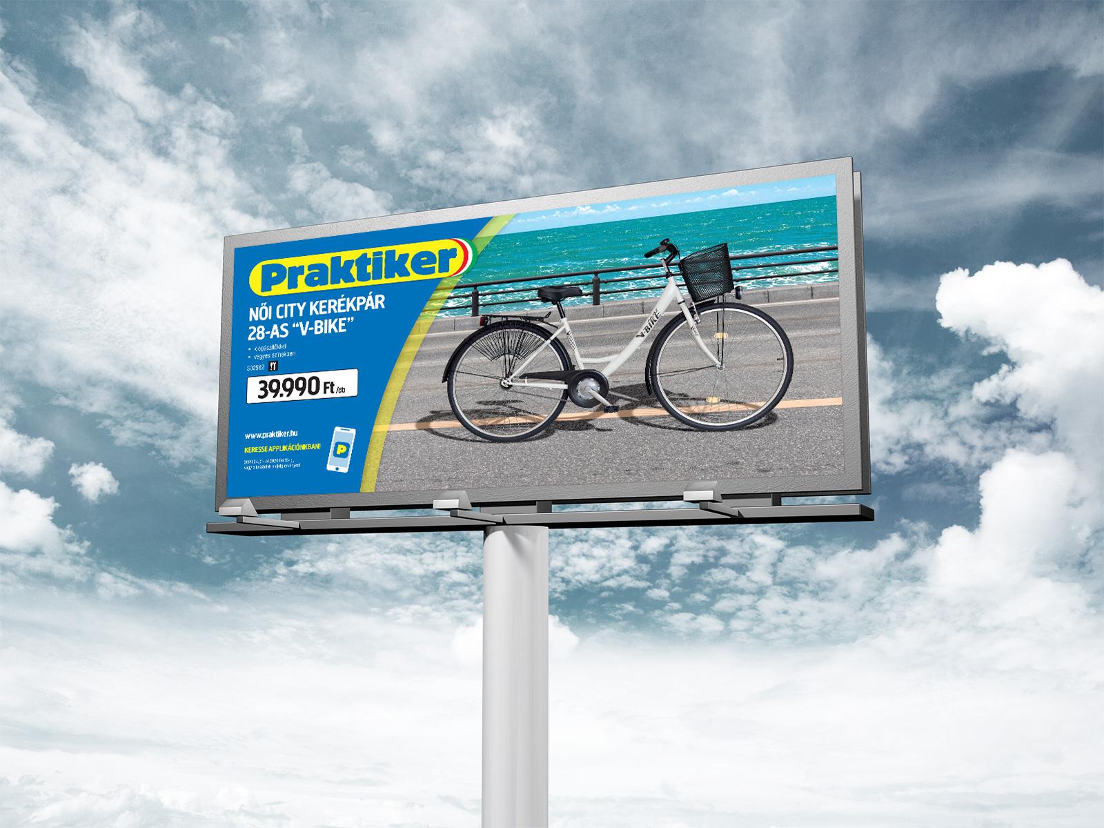 Out-of-Home Werbung (Praktiker-Plakate)