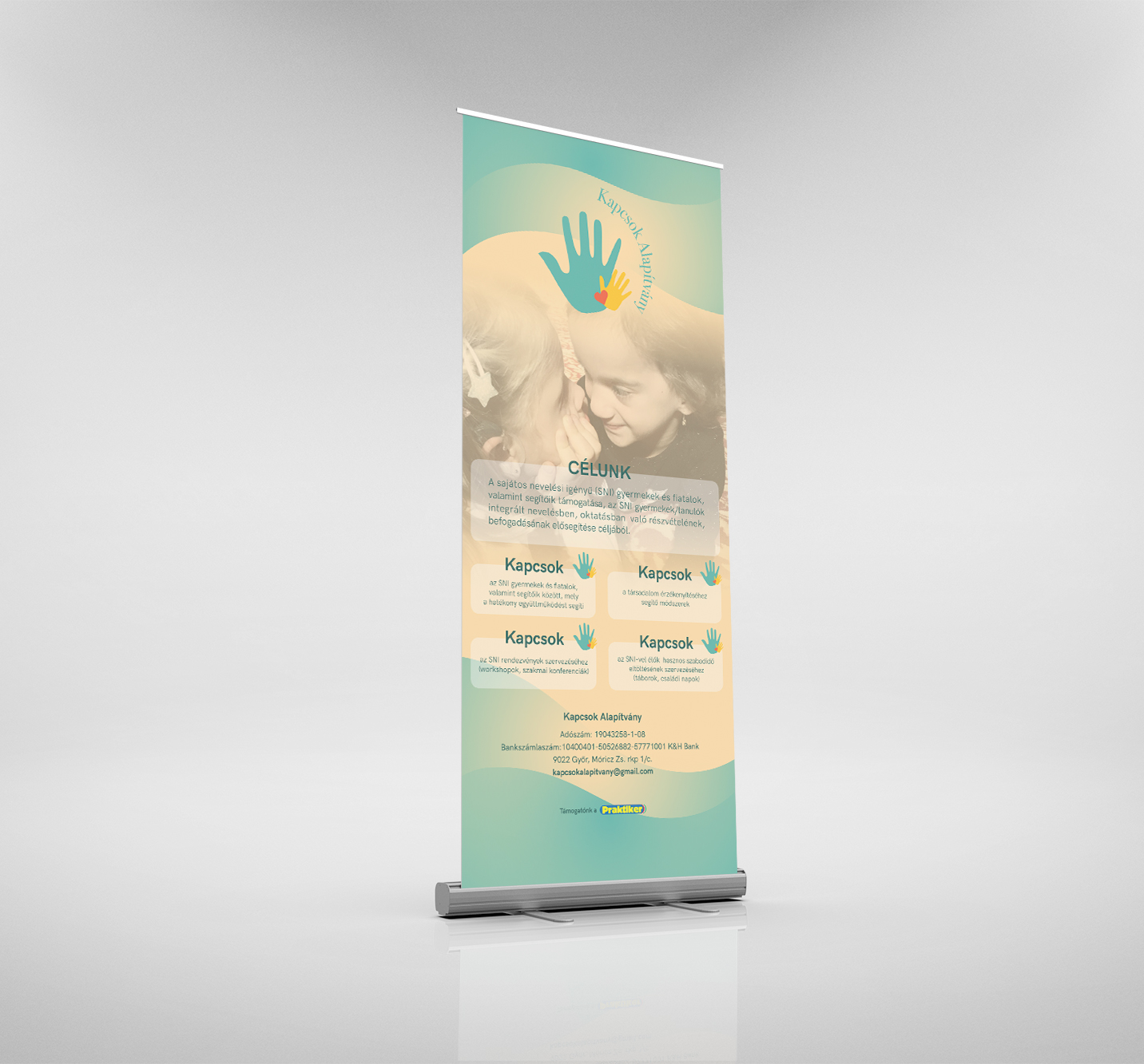 Roll-up and flyer for Kapcsok