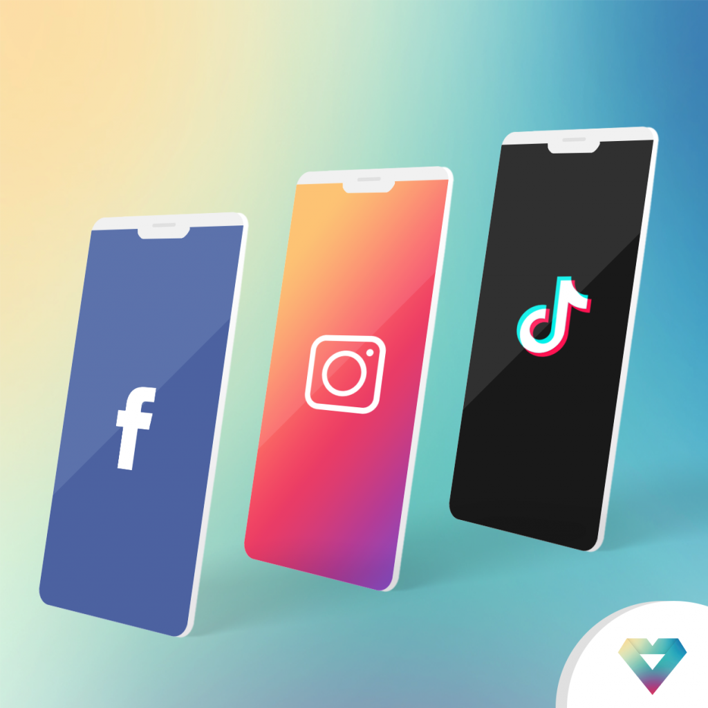 Facebook, Instagram, TikTok